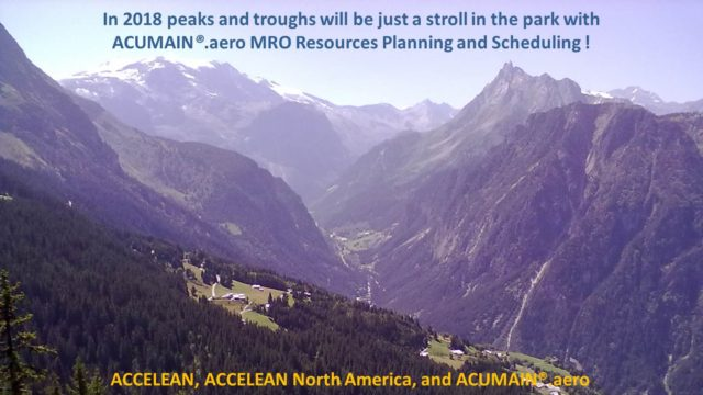 In 2018 peaks and troughs will be just a stroll in the park with ACUMAIN.aero MRO Resources Planning and Scheduling.